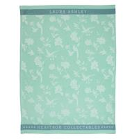 Laura Ashley Heritage Theedoek Mint Bloem 50x70 cm