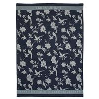 Laura Ashley Heritage Theedoek Midnight Bloem 50x70 cm