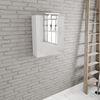 Zaro Beam spiegelkast mat wit 60x70x16cm 1 deur