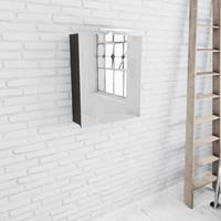Zaro Beam spiegelkast donker eiken 60x70x16cm 1 deur