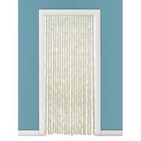 Vliegengordijn/deurgordijn kattenstaart beige/wit 93 x 230 cm Beige