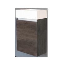Sanilux Fonteinkast  Trendline 40x22x52 cm Century Oak met Witte Wastafel Kraangat Links