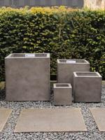 HO-Jeuken Bloembakken fiber cement set, kleur antiek