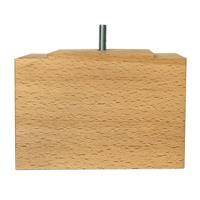 Furniture Legs Europe Rechthoekige houten meubelpoot 11 cm (M8)