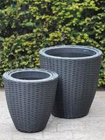 HO-Jeuken Bloembakken poly rattan set, wicker set
