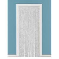 Vliegengordijn/deurgordijn kattenstaart grijs/wit 90 x 220 cm Grijs