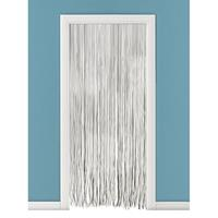 Vliegengordijn/deurgordijn PVC spaghetti grijs 90 x 220 cm Zwart