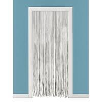 Vliegengordijn/deurgordijn PVC spaghetti wit 90 x 220 cm Wit