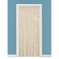 Vliegengordijn/deurgordijn kattenstaart beige/wit 90 x 220 cm Beige