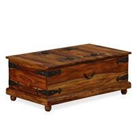 VidaXL Opbergkist 90x50x35 cm massief sheesham hout