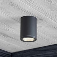 Lampenwelt.com LED downlight Embla van aluminium IP54, grijs