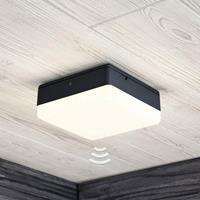 Lampenwelt.com LED plafondlamp Thilo, grijs, 16 cm, HF sensor