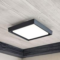 Lampenwelt.com LED buitenplafondlamp Birta, hoekig, 27 cm