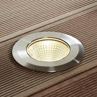 Lampenwelt.com LED roestvrijstalen inbouwlamp Sulea, IP67, rond