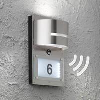 Wofi Huisnummer lamp Marvel met bewegingssensor