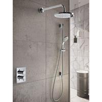Hotbath IBS 2A Get Together inbouw doucheset Laddy vierkant - chroom - met staafhanddouche - 25cm hoofddouche - met plafondbuis 15cm - met glijstang