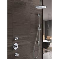 Hotbath IBS 2 Get Together inbouw doucheset Laddy vierkant - chroom - met staafhanddouche - 30cm hoofddouche - met plafondbuis 15cm - met glijstang