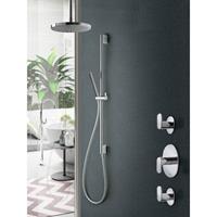 Hotbath IBS 5 Get Together inbouw doucheset Friendo chroom - met staafhanddouche - plafondbuis 15cm - hoofddouche 25cm - glijstang