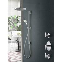 Hotbath IBS 5 Get Together inbouw doucheset Friendo chroom - met ronde 3-standen handdouche - plafondbuis 30cm - hoofddouche 25cm - glijstang