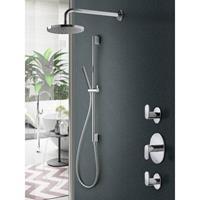 Hotbath IBS 5 Get Together inbouw doucheset Friendo chroom - met staafhanddouche - wandarm - hoofddouche 25cm - glijstang