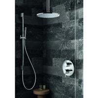 Hotbath IBS 1A Get Together inbouw doucheset Buddy - chroom - met staafhanddouche - 30cm hoofddouche - met plafondbuis 15cm - met glijstang