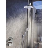 Hotbath IBS 5A complete thermostatische douche inbouwset Friendo met 2 weg stop omstel chroom 3 standen handdouche met plafondbuis 30cm diameter douchekop 30cm IBS5ACR-3s-P30-M106