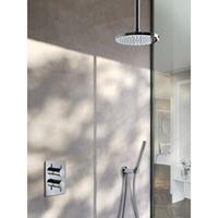 Hotbath IBS 2A Get Together inbouw doucheset Laddy vierkant - geborsteld nikkel - met staafhanddouche - 25cm hoofddouche - met plafondbuis 15cm - zonder glijstang