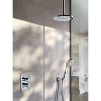 Hotbath IBS 2RA Get Together inbouw doucheset Laddy geborsteld nikkel - Ronde 3-standen handdouche - hoofddouche 25cm - plafondbuis 15cm - wandsteun