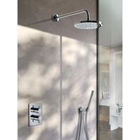 Hotbath IBS 2A Get Together inbouw doucheset Laddy vierkant - geborsteld nikkel - met staafhanddouche - 25cm hoofddouche - met wandarm - zonder glijstang