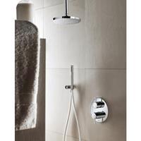 Hotbath IBS 1A Get Together inbouw doucheset Buddy - geborsteld nikkel - met staafhanddouche - 25cm hoofddouche - met plafondbuis 15cm - zonder glijstang