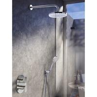 Hotbath IBS 5A complete thermostatische douche inbouwset Friendo met 2 weg stop omstel geborsteld nikkel 3 standen wandarm 20cm IBS5AGN-3s-W-20cm