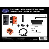 Best Design Stylmo Nero inbouw regendoucheset M 300 mat zwart