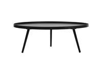 Woood salon/bijzettafel Mesa XXL hout zwart 100cm