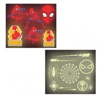 Amscan Spiderman Glow In The Dark Stickers 17 stuks