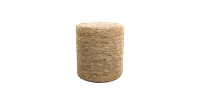 HSM Collection Pouf Malibu - raffia - ø34 cm - naturel