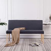 Bankje 139,5 cm polyester donkergrijs