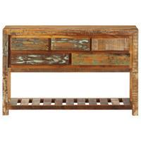 Dressoir 120x30x75 cm massief gerecycled hout