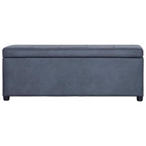 VidaXL Bankje met opbergvak 116 cm kunstsude grijs