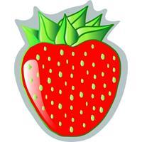 Strandlaken/badlaken aardbei Strawberry 120 x 150 cm Multi