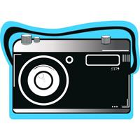 Strandlaken/badlaken fotocamera Pictury 120 x 170 cm Multi
