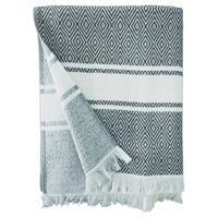 Strandlaken/badlaken hammam grijs/wit Chevron 90 x 160 cm Multi