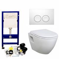 geberit Up100 Toiletset 28 Creavit Tp325 Wit Met Softclose Zitting - Standaard Delta 21 Wit (115125111)