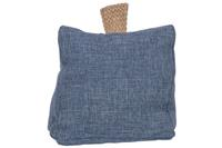 cosy@home DEURSTOP BLAUW 18X18XH12CM POLYESTER