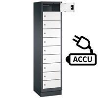 Fietslocker met 10 vakken inclusief stroomaansluiting voor accu's