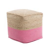 Beliani Poef roze 44 x 44 cm KIRAMA