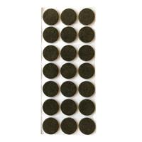 Furniture Legs Europe Bruine viltschijf rond diameter 3,5 cm (21 stuks)