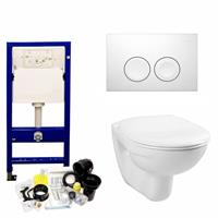 geberit Up100 Toiletset 03 Megasplash Basic Smart Met Bril En Drukplaat - Standaard Delta 21 - Wit - 115125111