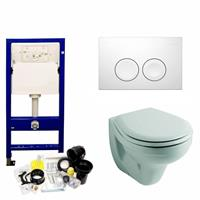 geberit Up100 Toiletset 05 Sphinx Econ 2 Met Softclose Zitting En Delta Drukplaat - Standaard Delta 21 Wit (115125111)