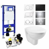 geberit Up320 Toiletset 03 Megasplash Basic Smart Met Bril En Drukplaat - Standaard Sigma 01 - Wit - 115770115
