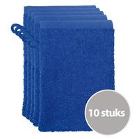 The One Towelling The One Voordeelpakket Washandjes Royal Blue - 10 stuks